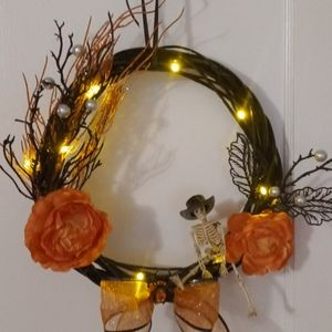 Cowboy happy skeleton wreath
